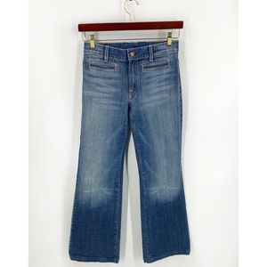 7 For All Mankind Flare Leg Jeans Size 29 Blue